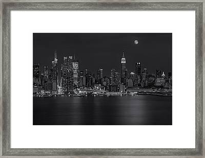 New York City Night Lights Framed Print by Susan Candelario