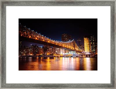 New York City - Night Lights Framed Print