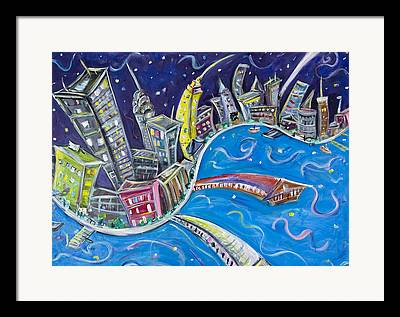 New Jersey Paintings Framed Prints