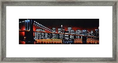 New York City Panaroma Framed Print
