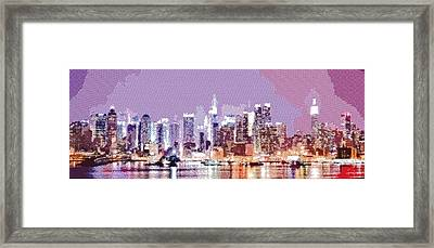 New York City - Parallel Hatching Framed Print