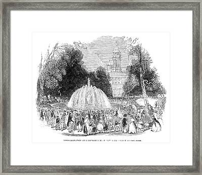New York City Park, 1844 Framed Print