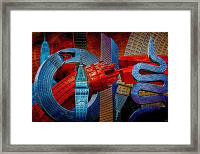 New York City Park Avenue Sculptures Reimagined Framed Print