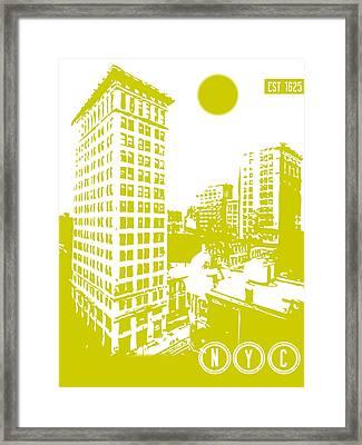 New York City Poster Framed Print