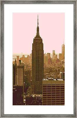 New York City Poster Framed Print by Dan Sproul