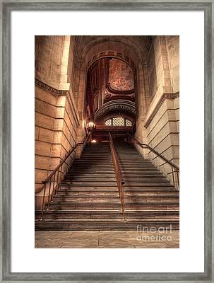 New York City Public Library Framed Print by David Bearden