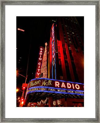 New York City - Radio City Music Hall 001 Framed Print by Lance Vaughn