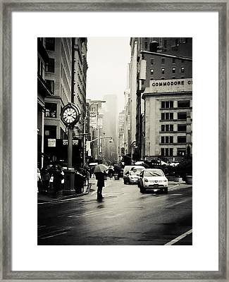 New York City - Rain - 5th Avenue Framed Print by Vivienne Gucwa