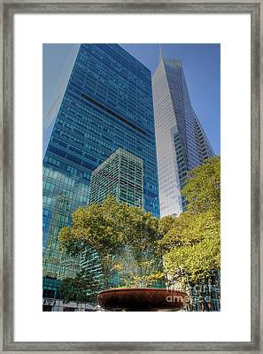 New York City Reflections Framed Print by Bob Hislop