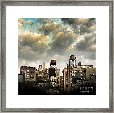 New York City Rooftops Framed Print by Amy Cicconi