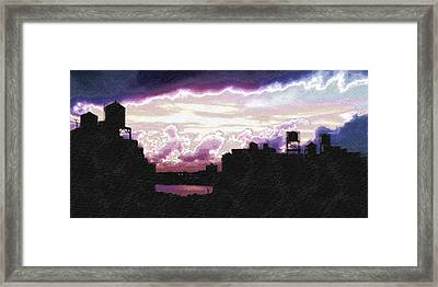 New York City Rooftops Framed Print by Tony Rubino