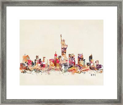 New York City Sklyline Framed Print by Bri B