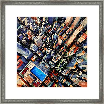 New York City Sky View Framed Print