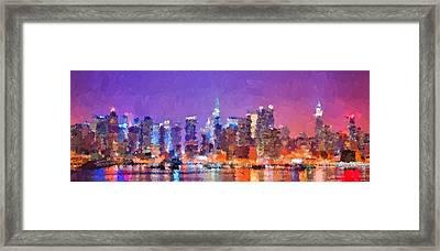 New York City - Skyline 0 Framed Print
