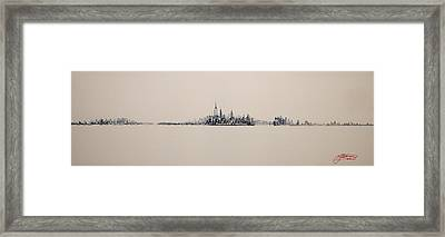 New York City Skyline 15x45 2013 Framed Print