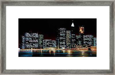 New York City Skyline 2 Framed Print