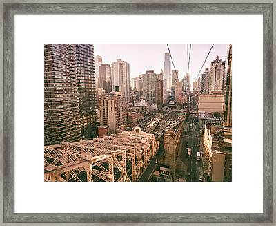 New York City Skyline - Above The City Framed Print by Vivienne Gucwa
