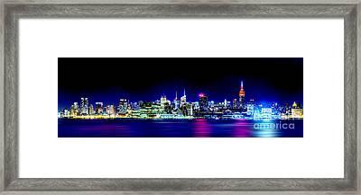 New York City Skyline Framed Print by Az Jackson