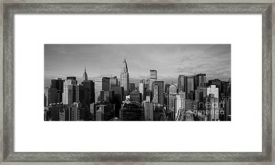 New York City Skyline Framed Print by Diane Diederich