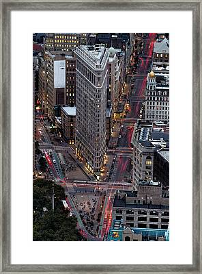 New York City Skyline Flatiron Building Framed Print
