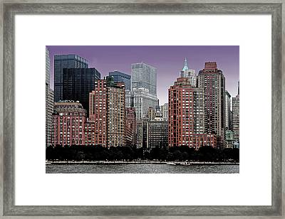 Framed Print featuring the photograph New York City Skyline Image by Christopher McKenzie