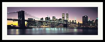 Twin Towers Trade Center Framed Prints