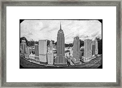 New York City Skyline - Lego Framed Print by Edward Fielding