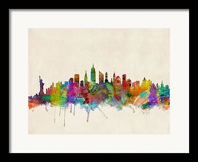 Skylines Digital Art Framed Prints