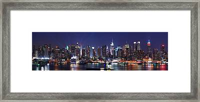 New York City Skyline Panorama Framed Print