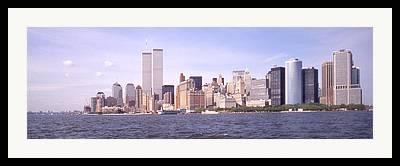 Twin Towers Trade Center Digital Art Framed Prints