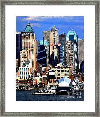 New York City Skyline With One World Wide Plaza Framed Print