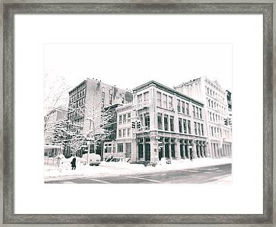 New York City - Snow In Soho Framed Print by Vivienne Gucwa