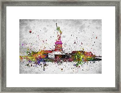New York City Statue Of Liberty Framed Print
