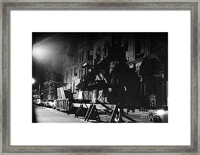 Framed Print featuring the photograph New York City Street by Steven Macanka