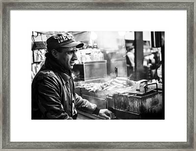 New York City Street Vendor 2 Framed Print