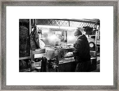 New York City Street Vendor Framed Print