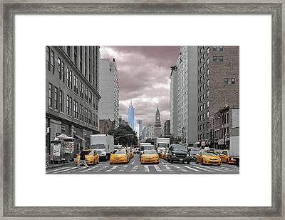 New York City Street View Framed Print by Paul Van Baardwijk