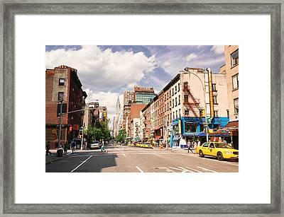 New York City - Summer Afternoon Framed Print
