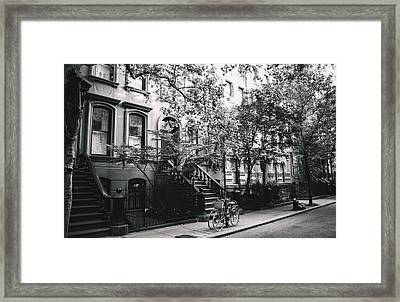 New York City - Summer - West Village Street Framed Print by Vivienne Gucwa