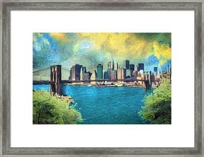 New York City Framed Print by Taylan Apukovska