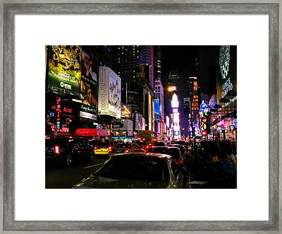 New York City - Times Square 002 Framed Print by Lance Vaughn