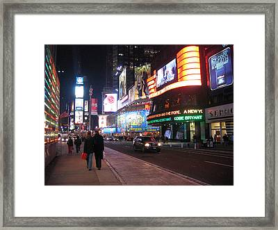 New York City - Times Square - 121213 Framed Print by DC Photographer