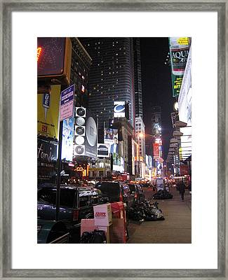 New York City - Times Square - 121223 Framed Print by DC Photographer