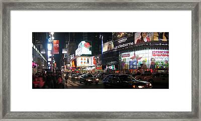 New York City - Times Square - 121225 Framed Print
