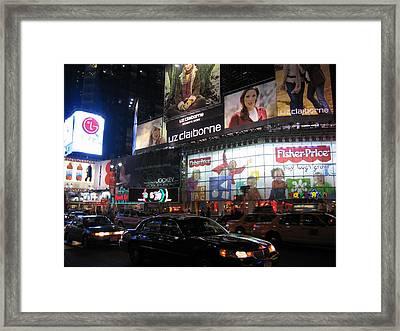 New York City - Times Square - 12126 Framed Print