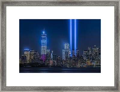 New York City Tribute In Lights Framed Print