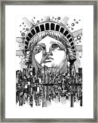 New York City Tribute Framed Print