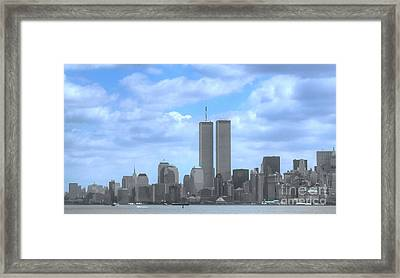New York City Twin Towers Glory - 9/11 Framed Print