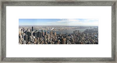New York City - View From Empire State Building - 12121 Framed Print by DC Photographer