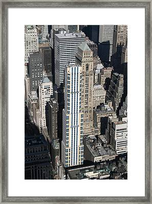 New York City - View From Empire State Building - 121210 Framed Print
